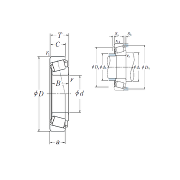 HR322/22 NSK Tapered Roller Bearings #1 small image