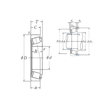 HR322/22 NSK Tapered Roller Bearings #1 image