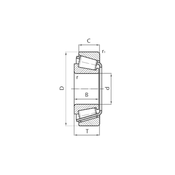 31318 CYSD Tapered Roller Bearings #1 image