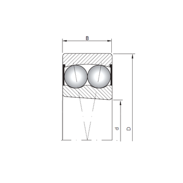 2209K-2RS ISO Self Aligning Ball Bearings #1 image