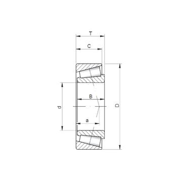322/22 ISO Tapered Roller Bearings