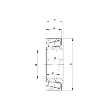 33022 A CX Tapered Roller Bearings #1 small image