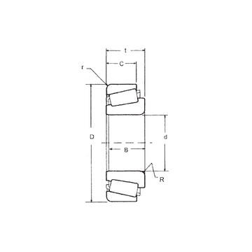 LM603049/LM603014 FBJ Tapered Roller Bearings #1 small image