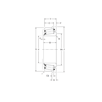 160098X/160161XC Gamet Tapered Roller Bearings #1 small image