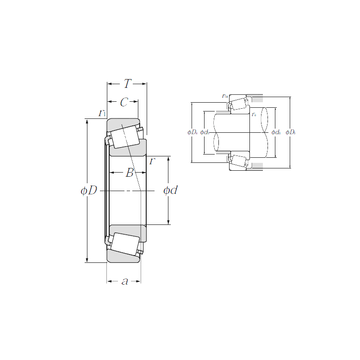4T-15100/15245 NTN Tapered Roller Bearings #1 small image