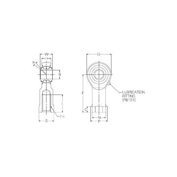 PBR12FN NMB Self Aligning Ball Bearings