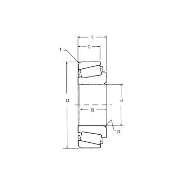 LM603049/LM603014 FBJ Tapered Roller Bearings #1 image